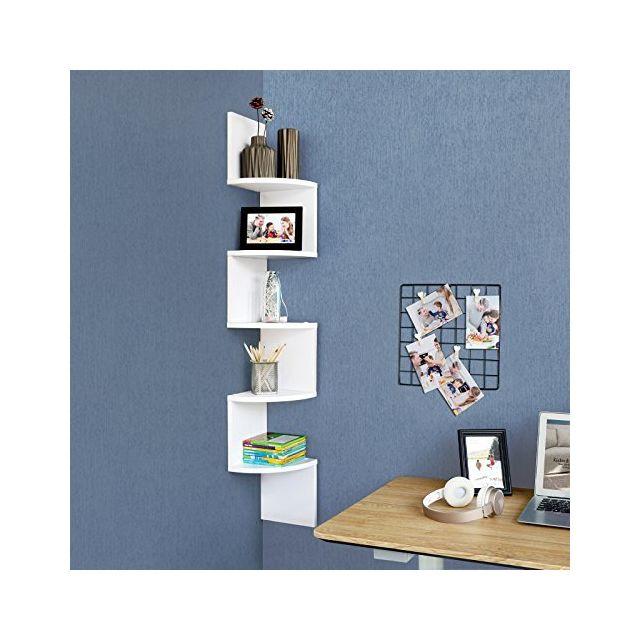 Vasagle étagère Dangle étagère Murale étagère En Forme Zigzag
