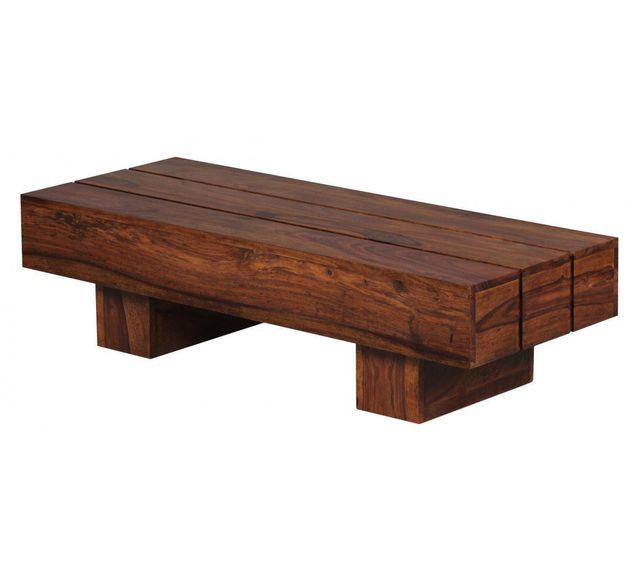 COMFORIUM Table basse contemporaine 120 x 45 cm en bois massif sheesham