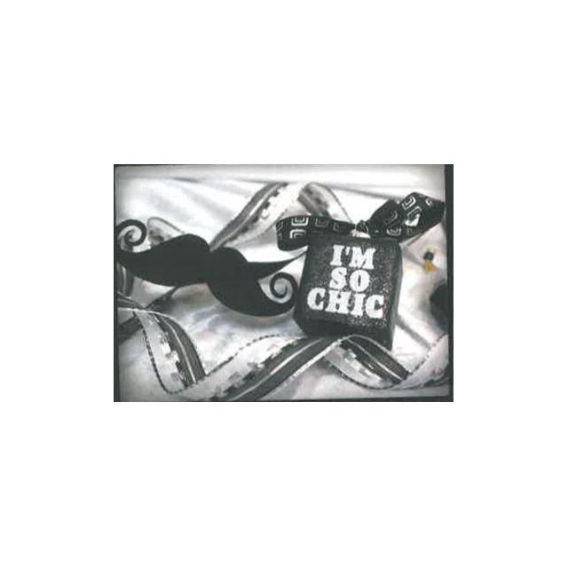 Ruban Olympe noir et blanc 15 mm