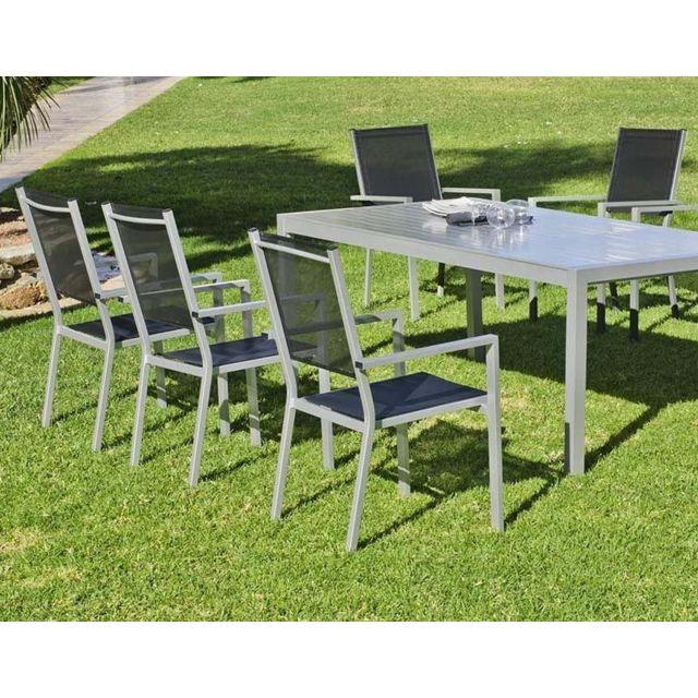Hevea salon de jardin 8 personnes ibiza pas cher achat vente ensembles tables et chaises - Salon de jardin 8 personnes ...