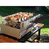 Tourne brochettes automatique pour barbecue 8 brochettes