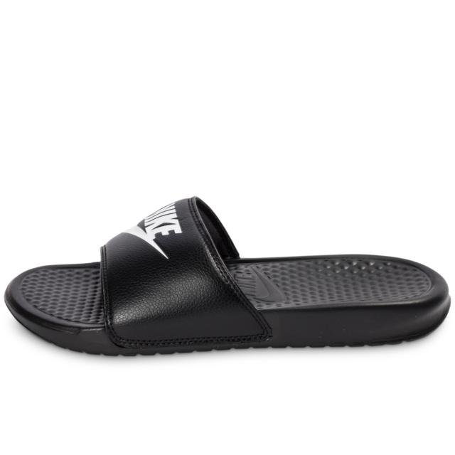 Nike Benassi Just Do It Noire Sandales pas cher Achat