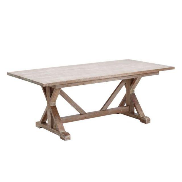 Ma Maison Mes Tendances Table à manger 200 cm en bois de mindy Carles - L 200 x l 100 x H 76
