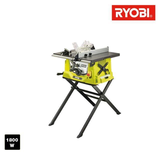 Ryobi - Scie sur table électrique 1800W 254mm - piètement rétractable - RTS1800S-G