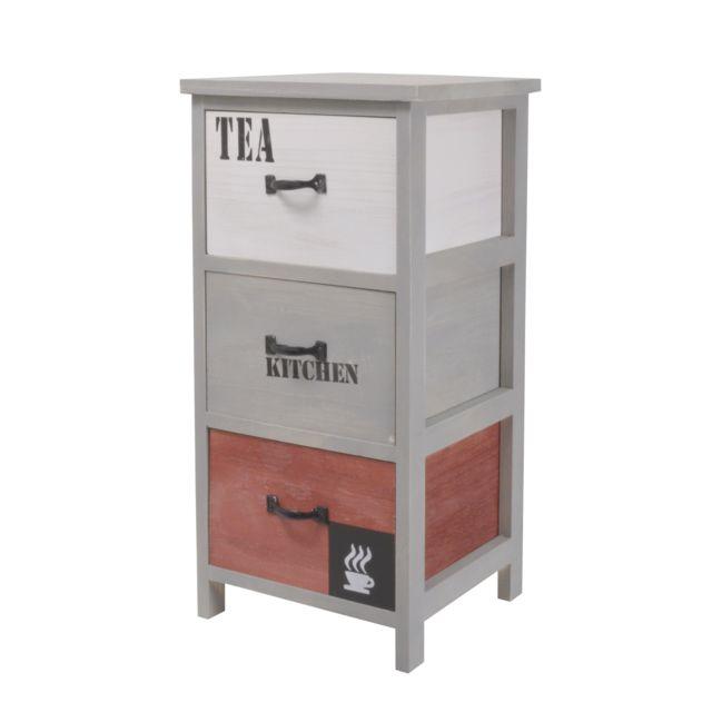 FRANDIS Meuble de cuisine - 3 tiroirs - factory