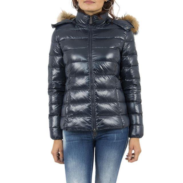 Jott - Doudounes doudoune luxe grand froid bleu - pas cher Achat   Vente  Blouson femme - RueDuCommerce f79517758b04