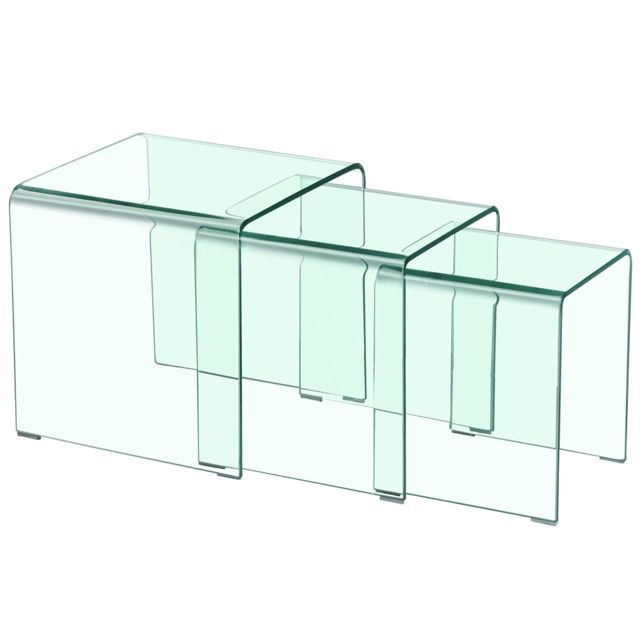 MENZZO Table basse gigogne Verra Transparent