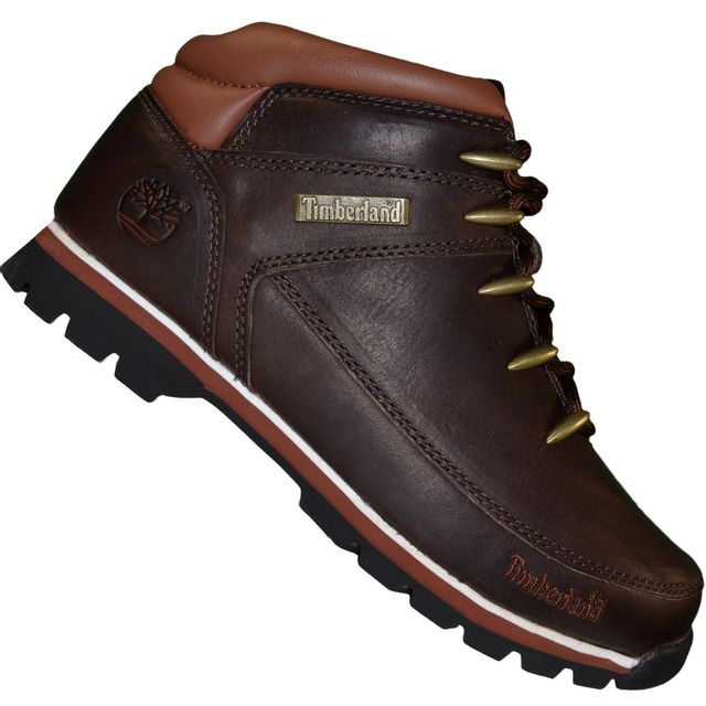 Timberland - Boots - Chaussures Montantes - Homme Euro Sprint Cuir - Marron Foncé