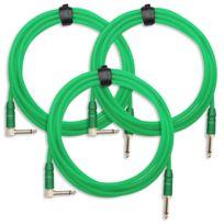 Pronomic - 3x Set Trendline Inst-3NG câble à instrument 3m vert