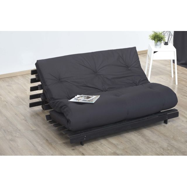 lovea matelas futon coton gris anthracite 140x190 achat vente matelas pas chers rueducommerce. Black Bedroom Furniture Sets. Home Design Ideas