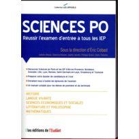 L'ETUDIANT - l'officiel Sciences po ; réussir l'examen d'entrée à tous les Iep