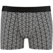 Aubademen - Boxer Homme Coton Modal Labyrinthe Blanc Noir