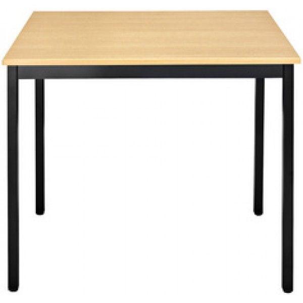 Sodematub Naudin Table rectangulaire 120 x 60 cm - piètement noir - plateau hêtre