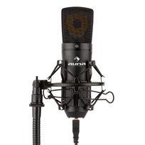AUNA - MIC-920B Microphone USB de studio à condensateur large membrane - noir