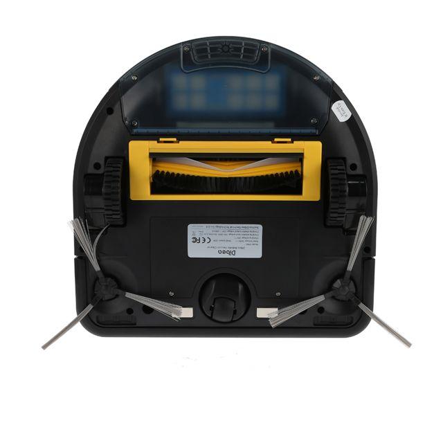 Excelvan D35 Robot Aspirateur 4 MODES DE NETTOYAGE Noir