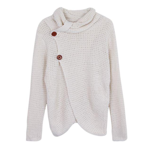 >Femmes pull col chunky câble en tricot wrap pull cardigan pull s blanc