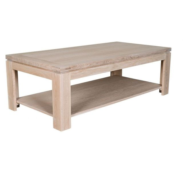 soldes hellin - table basse rectangulaire boston - bois chêne