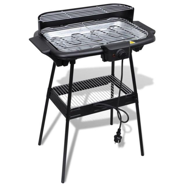 Vidaxl - Barbecue Electrique Grille Rectangulaire pour Jardin