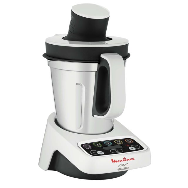 MOULINEX - Robot cuiseur Volupta HF404110 Blanc/Gris