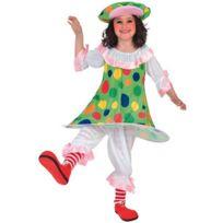 Euro Carnavales - Costume Du Petit Clown - Fille4/6 ans 102 à 114 cm