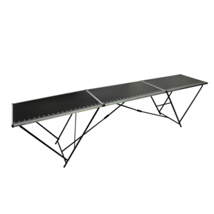 Rocambolesk Superbe Table à tapissier en aluminium et en acier neuf