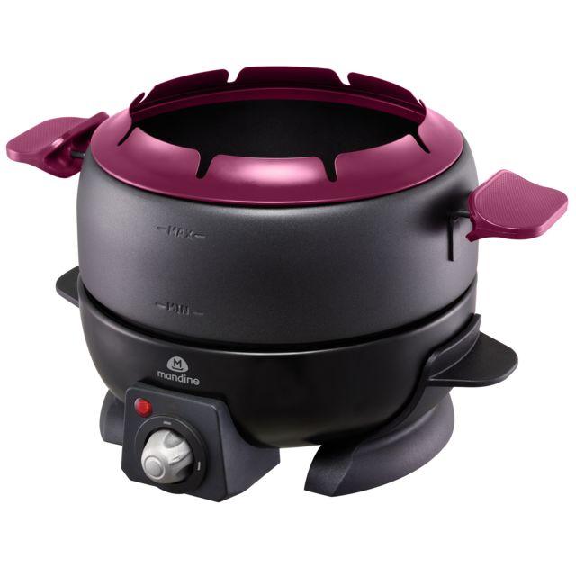 MANDINE Appareil à fondue - MFD208-17 - Noir/Violet