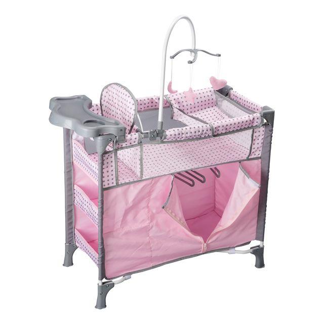 AIMANTINE - Ma nursery pour poupon rose et grise - pas cher Achat ... 9f730142cae8