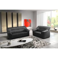 Relax design - Canapé Beata Dolaro noir 3+2 places sofa divan