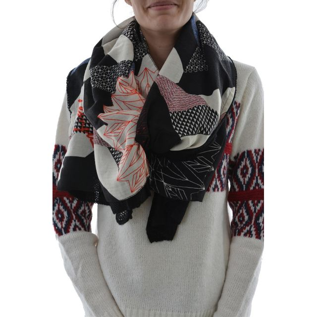 Desigual - Foulards 67w54e2 mixto edit noir Taille Unique - pas cher Achat    Vente Echarpes, foulards - RueDuCommerce 1c3b859603e