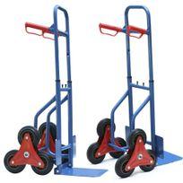 Varanmotors - Chariot de transport - Diable pour escalier 6 roues charge jusqu'à 200Kg