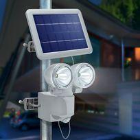 Esotec - Projecteur solaire détection de mouvement Duo Power Ii