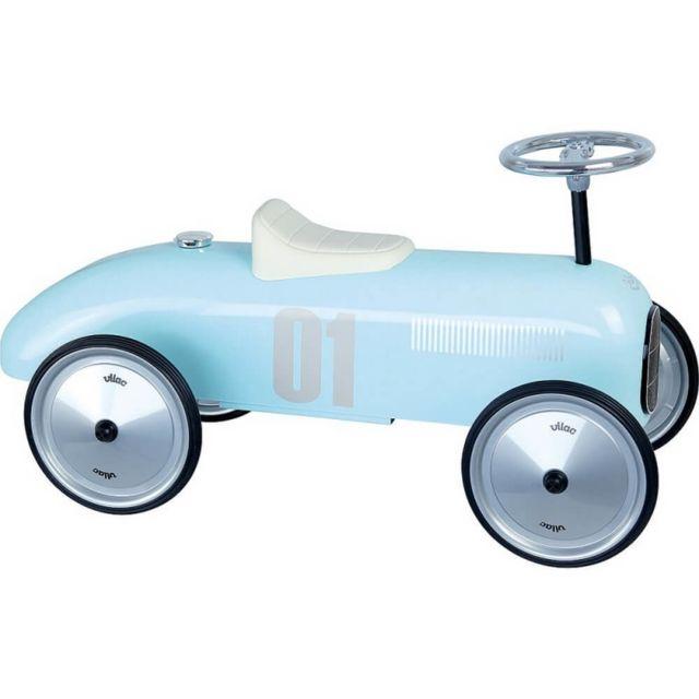 Vilac Porteur voiture vintage bleu tendre