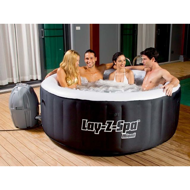 Bestway Spa Gonflable Lay Z Spa Miami 2 4 Places Pas Cher