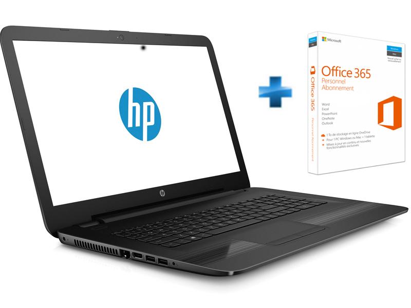 17-Y002NF - Noir + Microsoft Office 365 Personnel