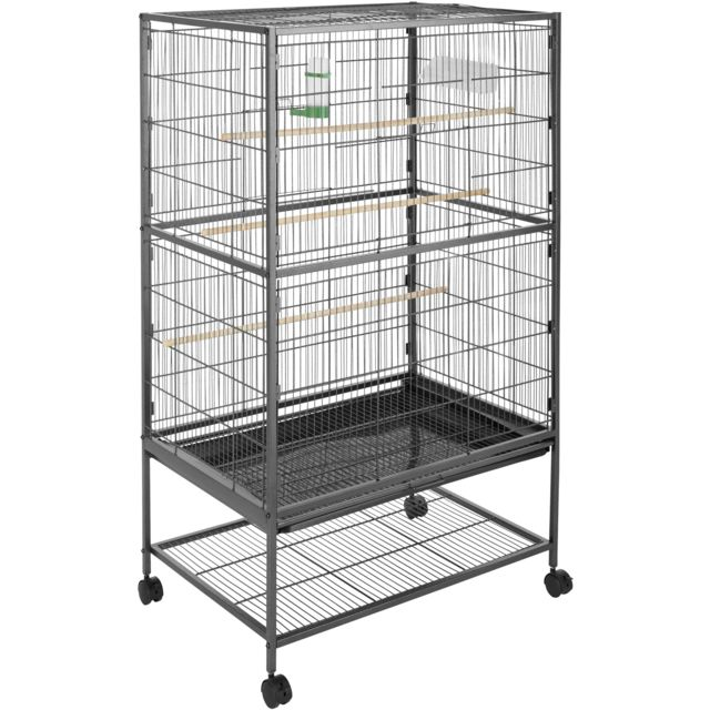 TECTAKE Cage à oiseaux 131 cm