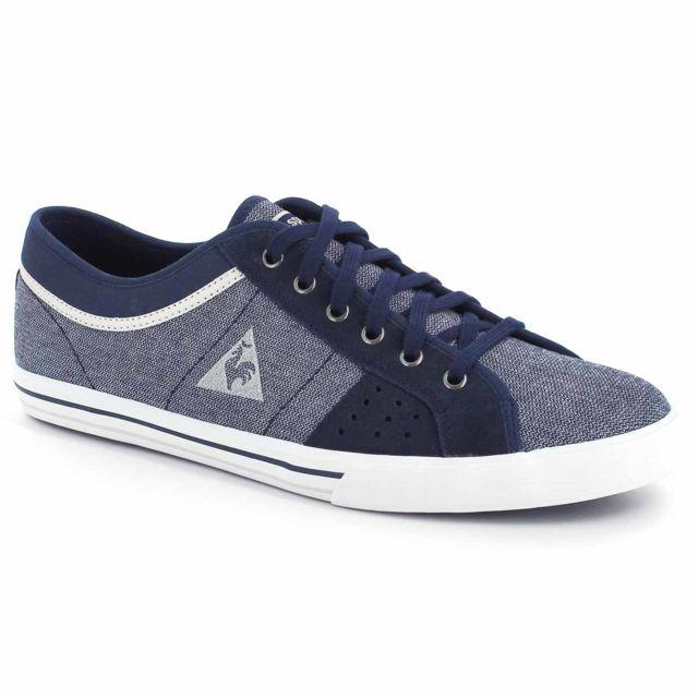 ddd6402c1bd Le Coq Sportif - Saint Ferdinand 2 Tones Suede Chaussures Mode Sneakers  Homme Cuir Suede Bleu - pas cher Achat   Vente Baskets homme - RueDuCommerce