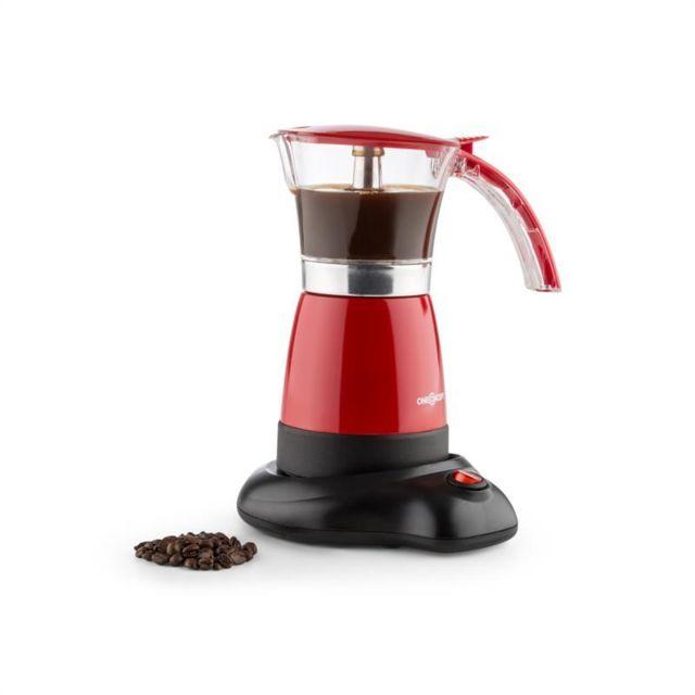 ONECONCEPT Funpresso Machine à expresso électrique 6 tasses 300 ml ? rouge