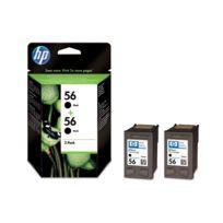 HP - Pack de 2 cartouches d'encre Noire n°56 - C9502AE - 2x19 ml
