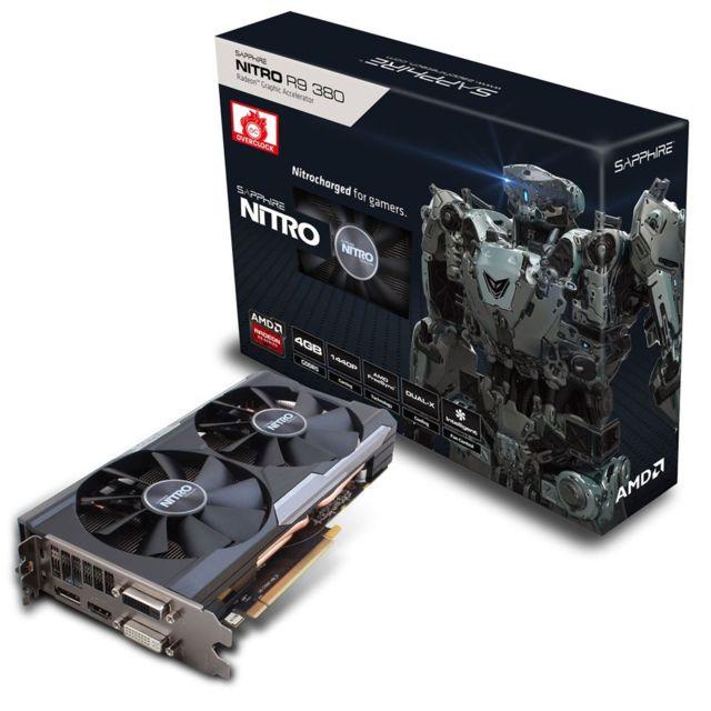 SAPPHIRE TECHNOLOGY - Radeon NITRO R9 380 4G GDDR5 PCI-E DL-DVI-I+DL-DVI-D / HDMI / DP DUAL-X OC W/BP UEFI