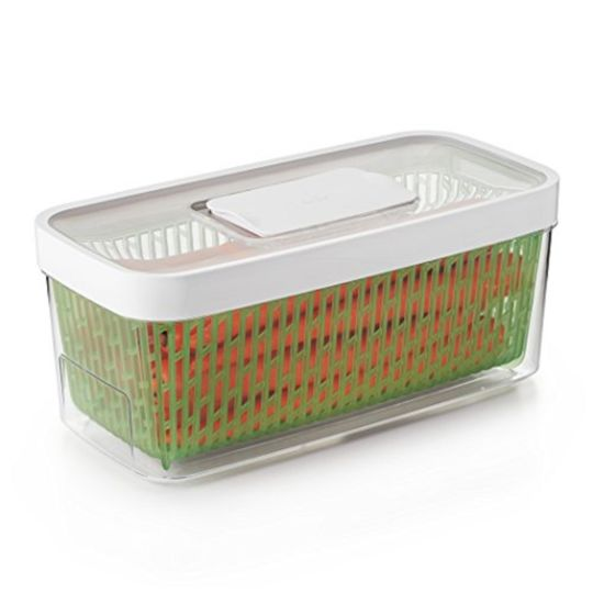 Boîte de conservation large rectangulaire verte 4.7L
