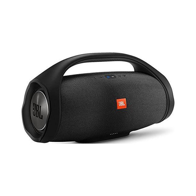 JBL Enceinte BOOM BOX Noir Emportez votre Boombox à pour faire la fête, la plage ou à la piscine sans craindre la pluie, les verres renversés ou les chutes dans l'eau.