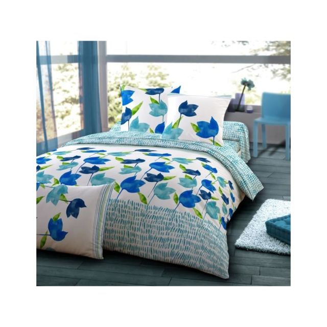 dodo housse de couette grace piscine 240x260cm 2 taies pas cher achat vente housses de. Black Bedroom Furniture Sets. Home Design Ideas
