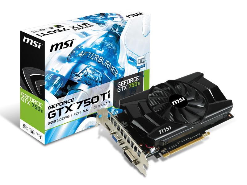 N750Ti-2GD5/OC GeForce GTX 750 Ti OC, 2 Go