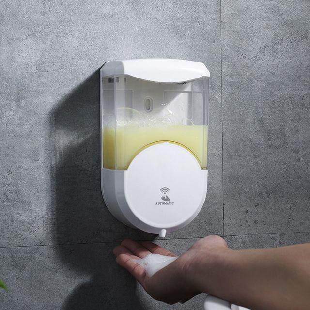 Generic Distributeur de savon liquide automatique pompe de douche cuisine salle de bains bouteille de savon - blanc