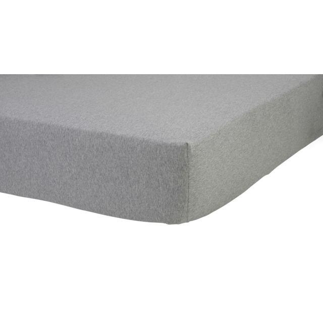 tex home drap housse en jersey coton durable gris chin 140cm x 200cm pas cher achat. Black Bedroom Furniture Sets. Home Design Ideas