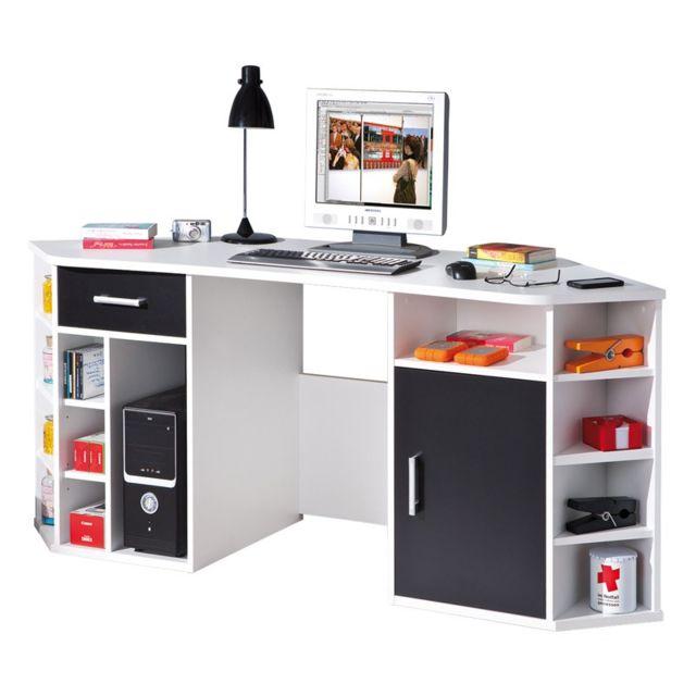 paris prix bureau d 39 angle enfant tiago 181cm blanc. Black Bedroom Furniture Sets. Home Design Ideas