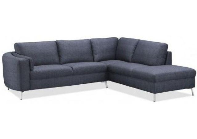 Declikdeco Le Canapé d'angle droit tissu gris Pharrell se démarque de par son design élégant, sublimé d'un gris chablis très tendan