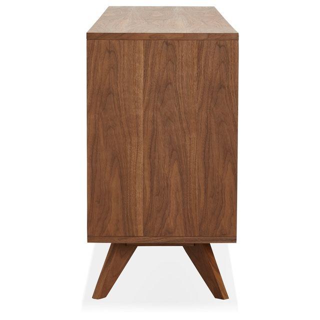 Alterego - Bahut design 'PORTOBELLO' en bois finition Noyer Brun