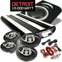 Electronic-Star - Set HiFi Auto Detroit Chaîne 4.1 10.000W Enceintes Ampli