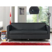 Modern sofa - Canapé Cubo 3 Seat pvc noir
